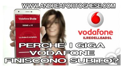 PERCHE I GIGA VODAFONE FINISCONO SUBITO