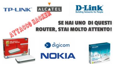 Attacco hacker router modem soluzione