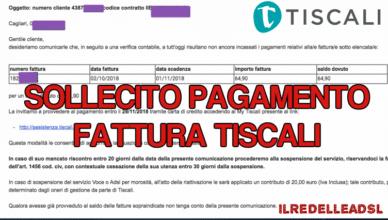 SOLLECITO PAGAMENTO FATTURA TISCALI