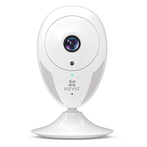 EZVIZ telecamera da interno ip camera 720p telecamera Wi-Fi interno visione notturna eccellente avviso movimento audio ad due vie grandangolare app mobile compatibile con Alexa modello CTQ2C